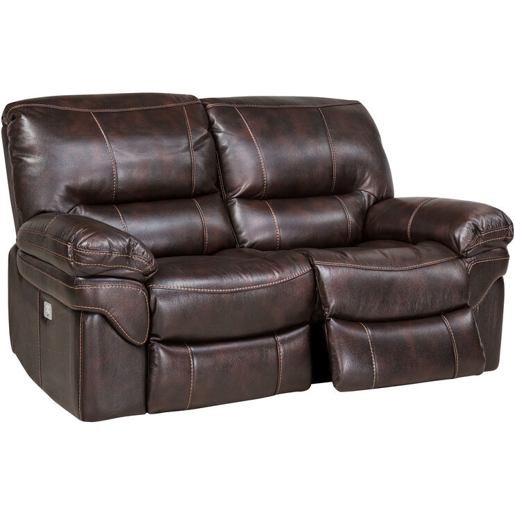 Valdez Brown Power+ Recl Loveseat