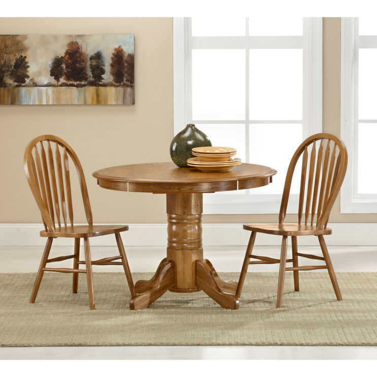 Jefferson Chestnut 3 Piece Laminate Drop Leaf Set