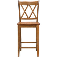 Platinum 30 Inch Oak X-Back Bar Stool