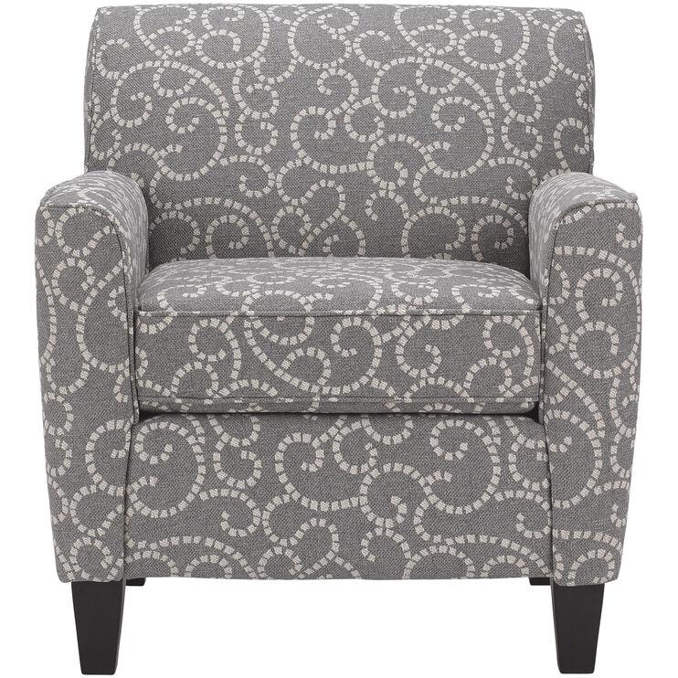 Risa Slate Accent Chair Slumberland Furniture