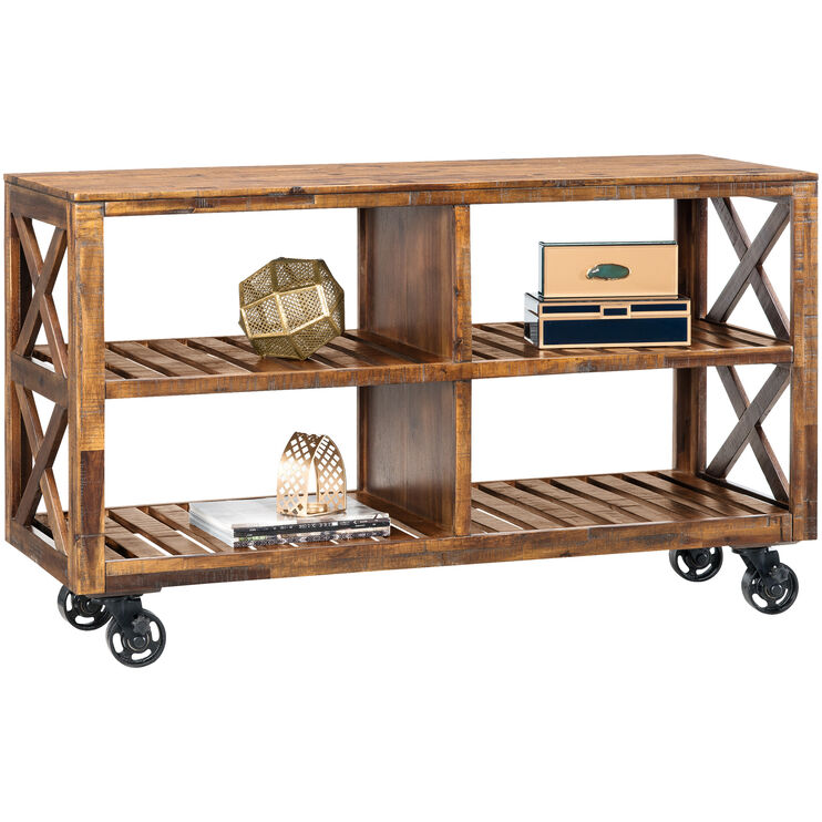 Loftworks Distressed Brown 54 Inch Cart