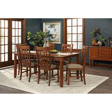 Santa Rosa 7 Piece Oak Dining Set