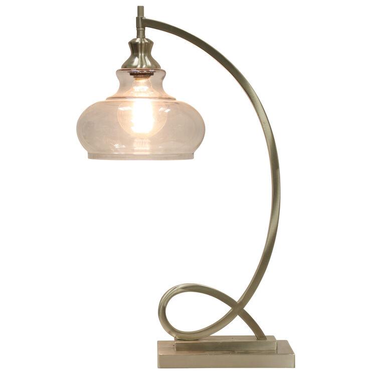 Burlingham Silver Accent Lamp