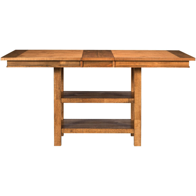 Willow Distressed Pine Rectangular Counter Table
