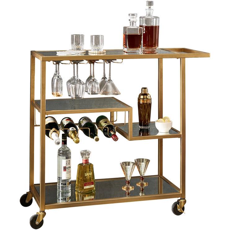 Sonja Champagne Kitchen Cart
