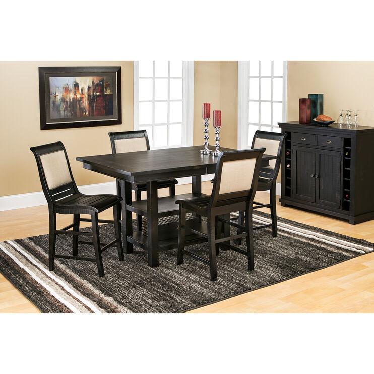 Willow Black Rectangular Counter Set