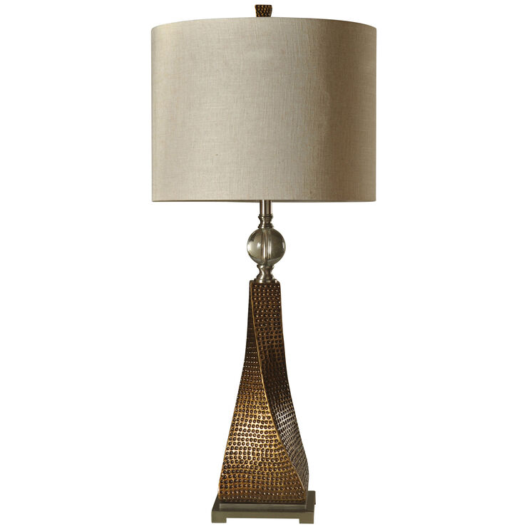 Bessemer Bronze Hammered Base Table Lamp