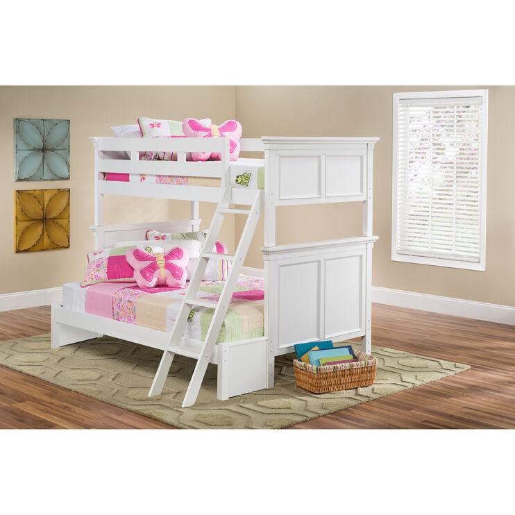 Persia White Twin/Twin Bunk Bed