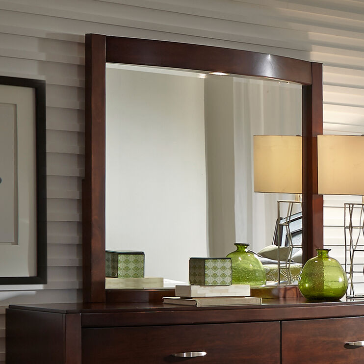 Avalon Dark Brown Lighted Mirror