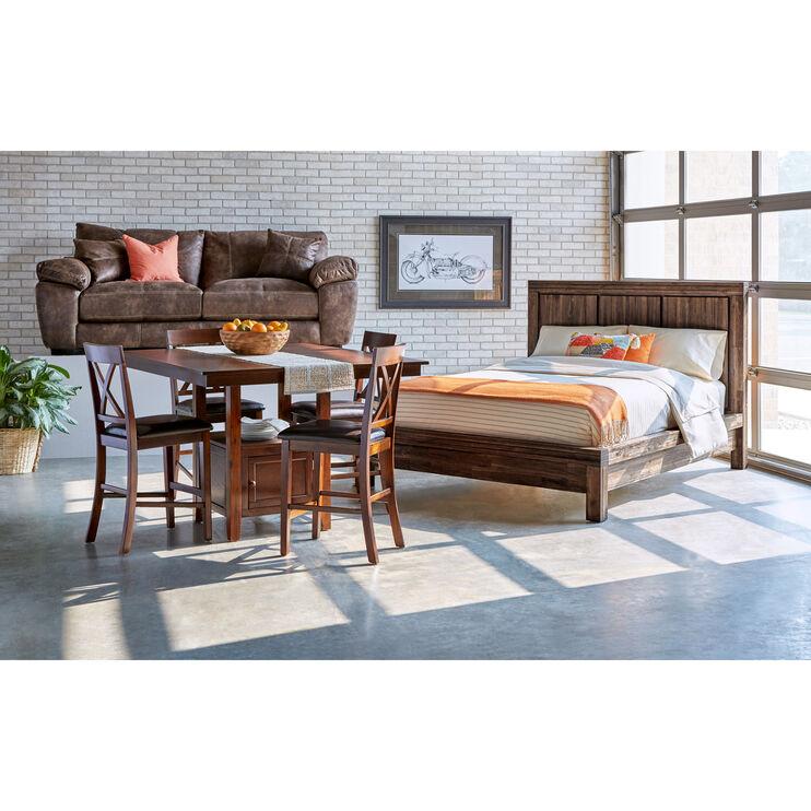 Prairie Brown Queen Platform Bed