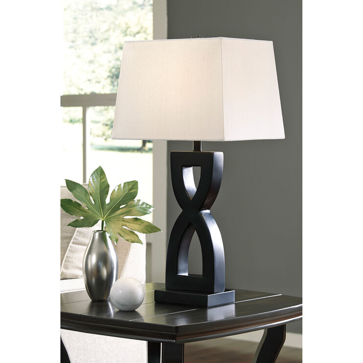 Amasai Black Set of 2 Table Lamps