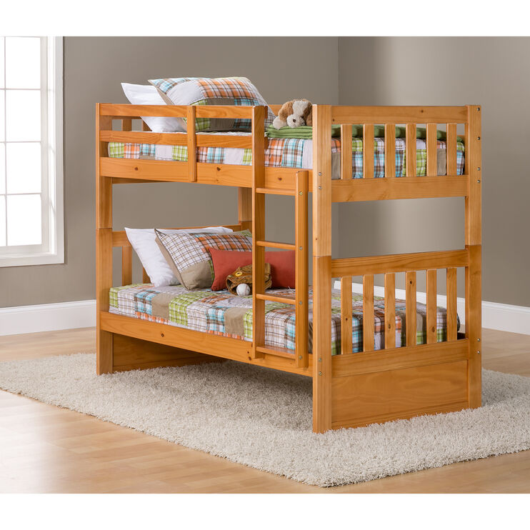 Knollwood Honey Twin over Twin Bunk Bed