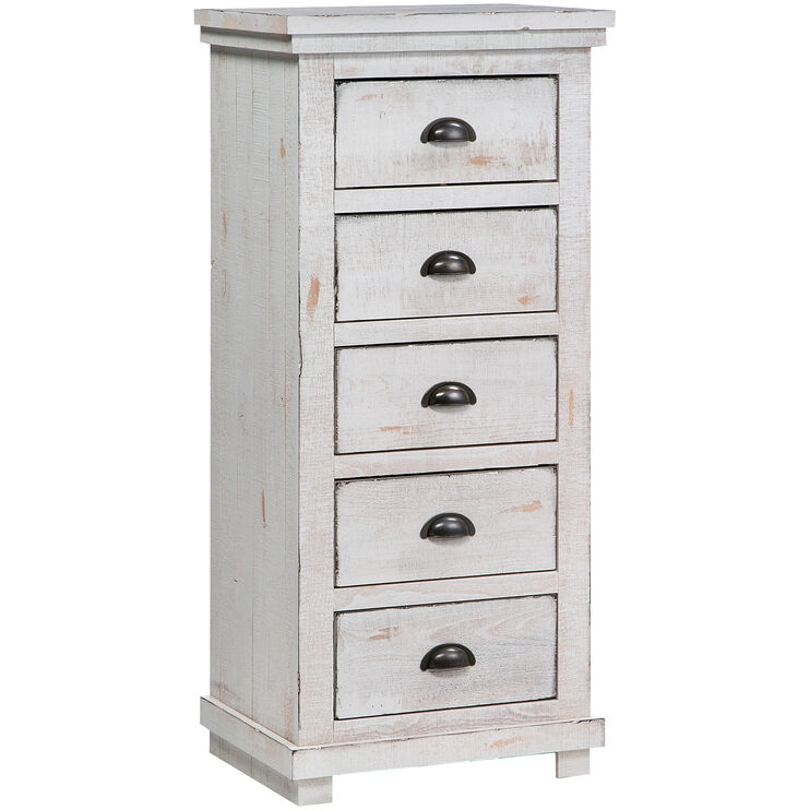 Willow Distressed White Lingerie Chest