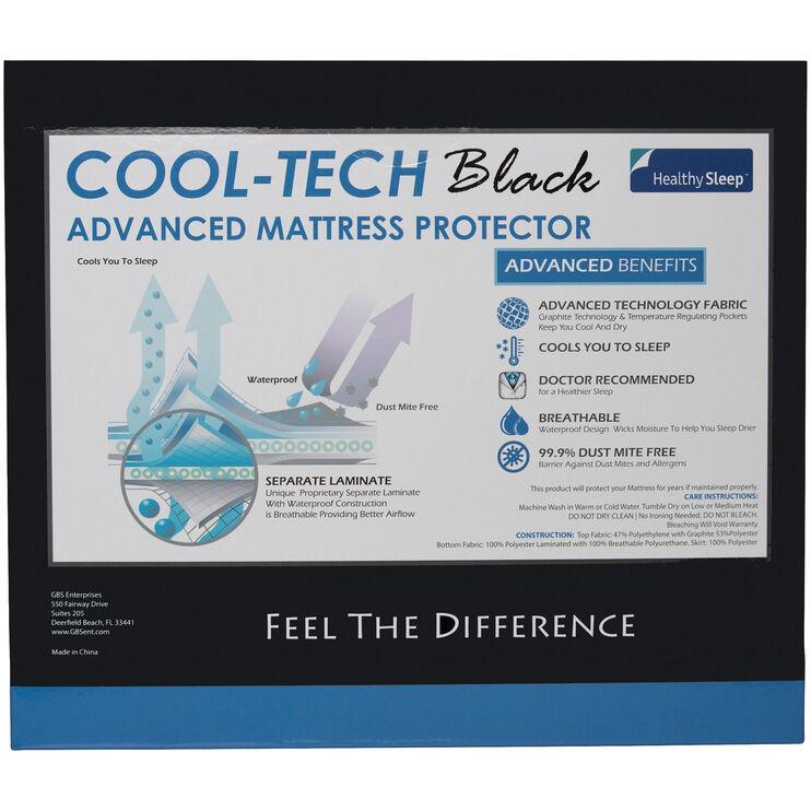 Cool-Tech Black Queen Mattress Protector