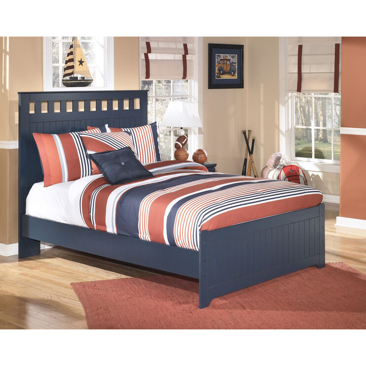 Leo Blue Full Panel Bed