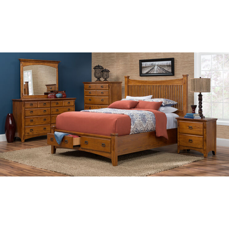 Slumberland Furniture Lodge Park Queen Storage Bed