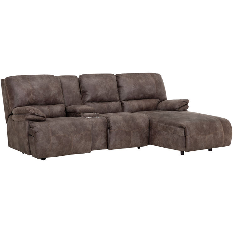 Fabulous Frisco Pewter Right Chaise Power Sofa Slumberland Furniture Squirreltailoven Fun Painted Chair Ideas Images Squirreltailovenorg