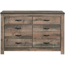 Trinell Rustic Plank Dresser