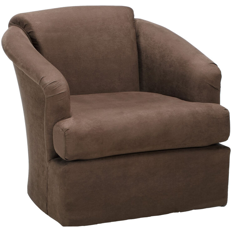 Cass Chocolate Swivel Chair