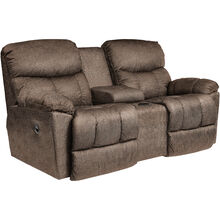 Morrison Cappuccino Reclining Console Loveseat