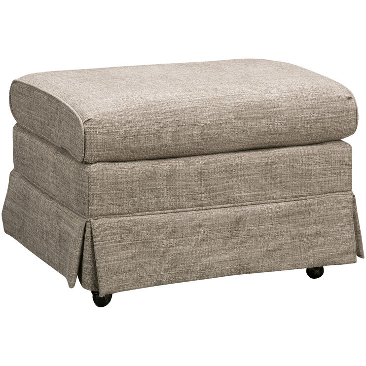 Biscay Gray Ottoman
