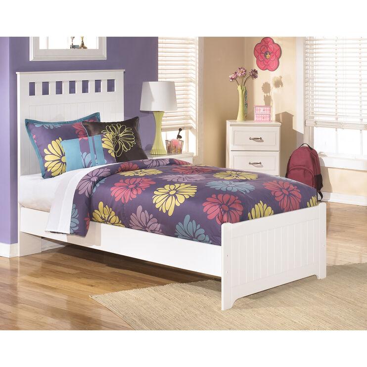 Lulu White Twin Panel Bed