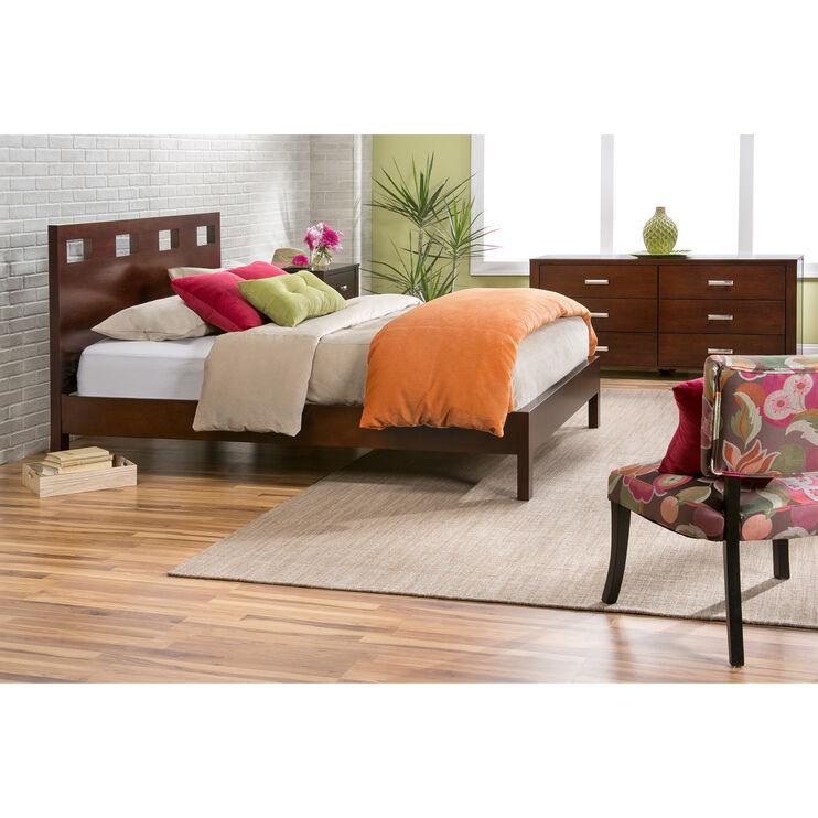 Riva Brown Queen Platform Bed