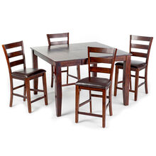 Kona 5 Piece Raisin Ladder Back Counter Dining Set
