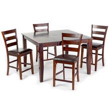 Kona 5 Piece Raisin Ladder Back Counter Dining Set