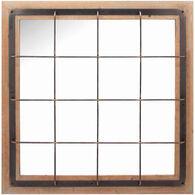 Farmhouse Grid Wall Mirror