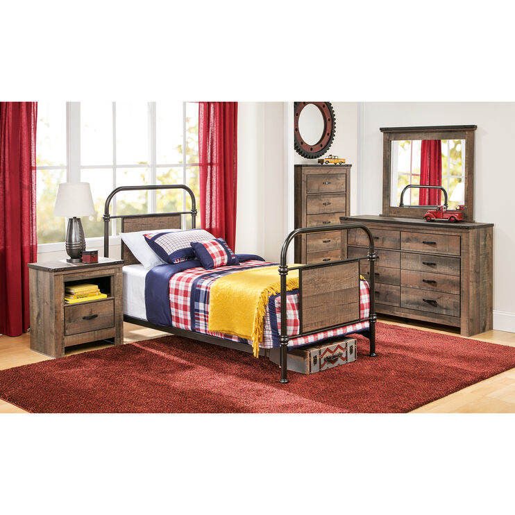 Trinell Full Metal Bed