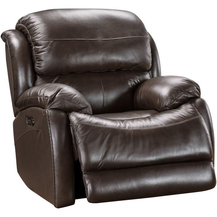 Fantastic Palmer Brown Power Plus Recliner Slumberland Furniture Ibusinesslaw Wood Chair Design Ideas Ibusinesslaworg