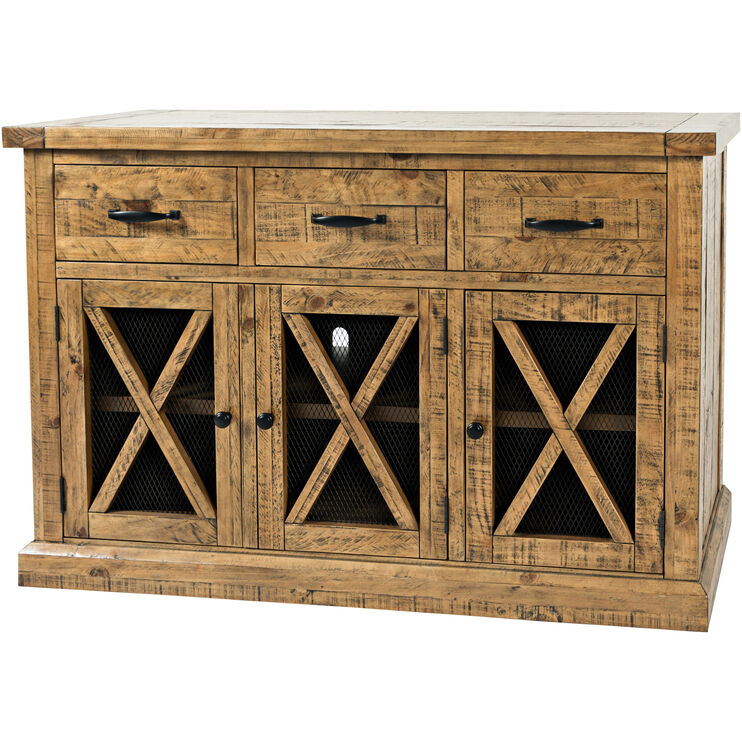 Telluride Honey Three Drawer Sideboard