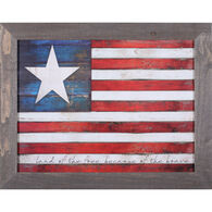 Reclaimed Artwork Land Of The Free