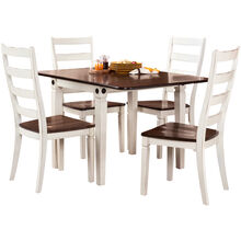 Glennwood 5 Piece Antique White Dining Set