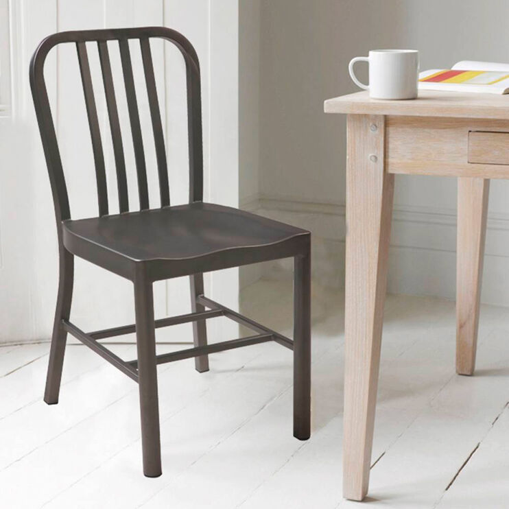 York Matte Gunmetal Side Chair