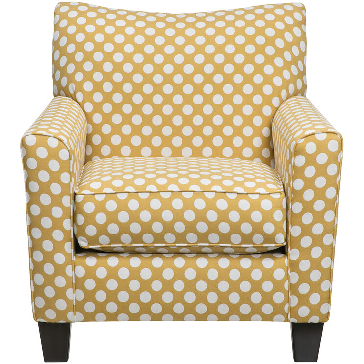 Aero Yellow Accent Chair