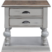 Colonnades Gray End Table