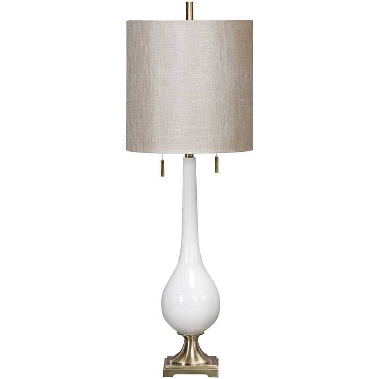Burnhart White Glass Table Lamp
