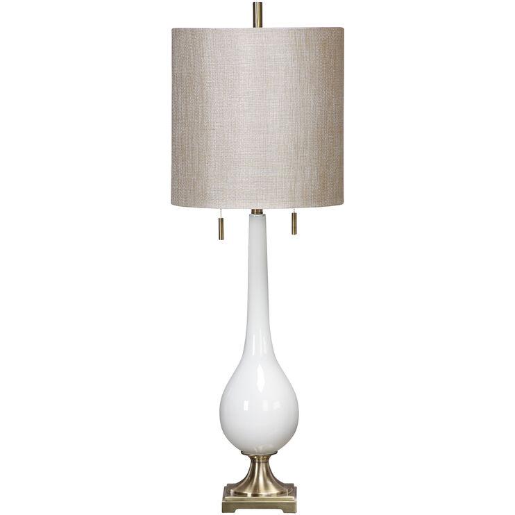 Burnhart White Glass Table Lamp