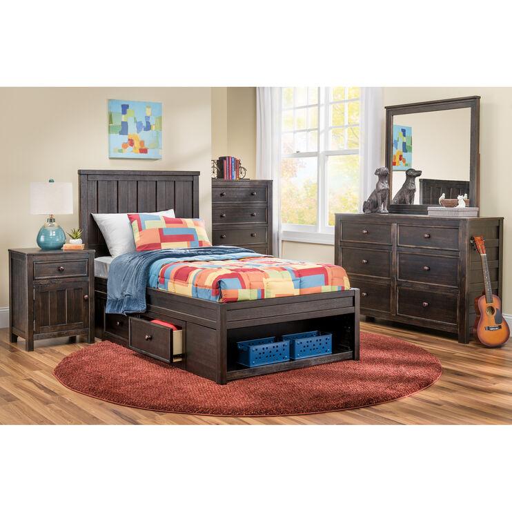 Jaysom Black Full Storage Bed