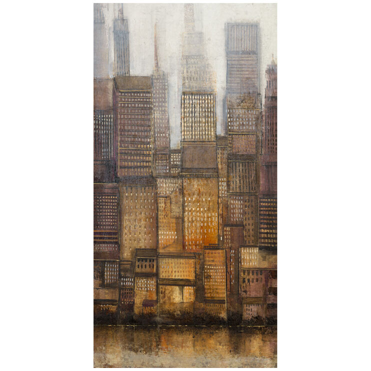 Uptown City II Canvas Art