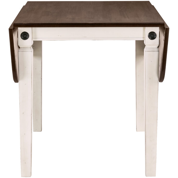 Glennwood White Drop Leaf Table