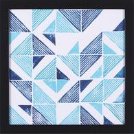 Beryl Block Print III Framed Canvas