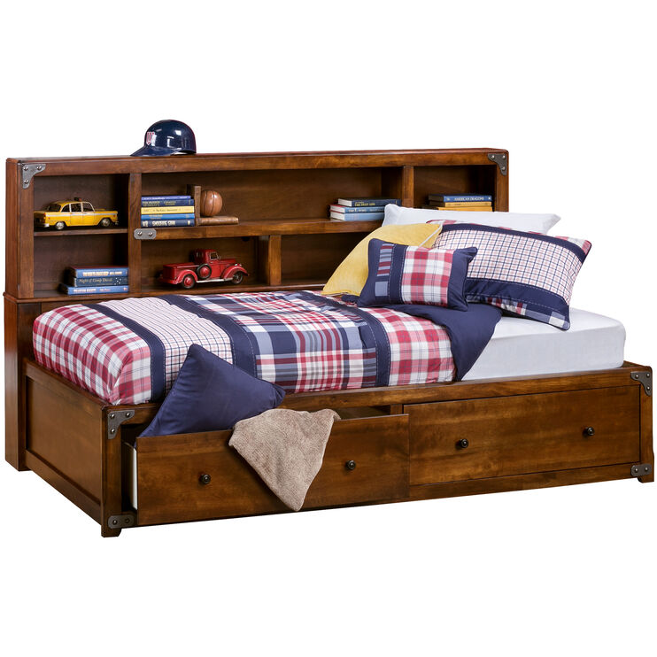 Delburne Brown Twin Lounge Bed