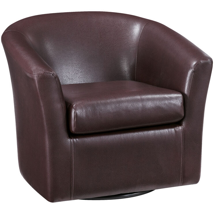 Sten Cognac Swivel Chair