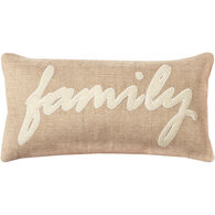 Sentiment Family Oblong Down Pillow
