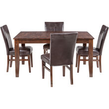 Kona 5 Piece Raisin Parsons Dining Set