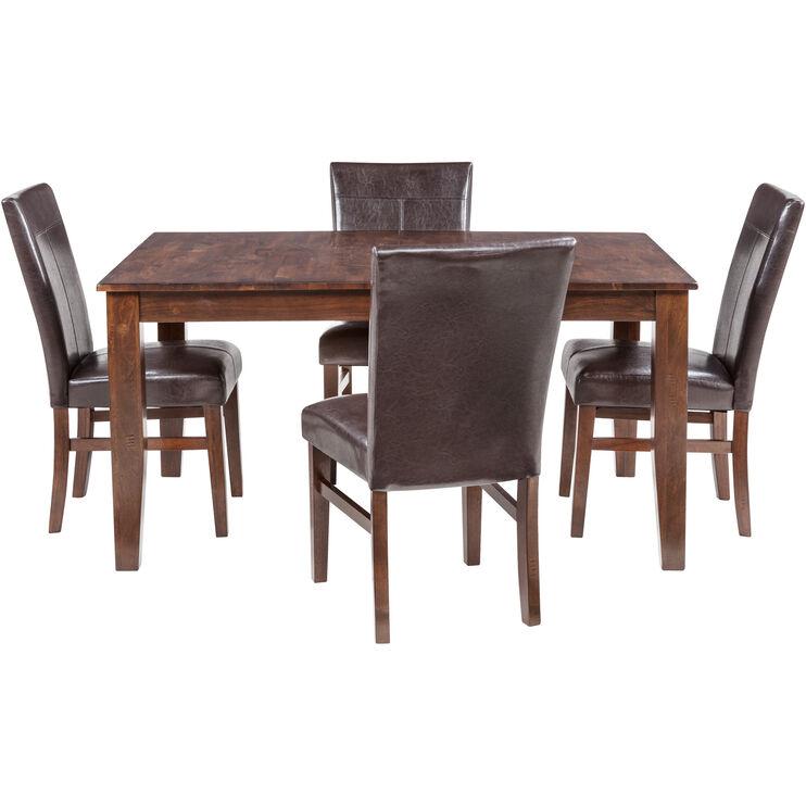 Kona 5 Piece Raisin Parsons Dining Set