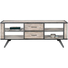 American Retro Gray Wash 2 Drawer Accent Console